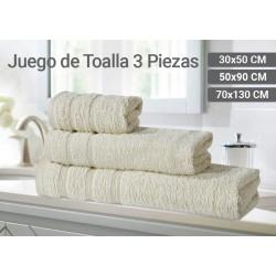 JUEGO DE TOALLAS TOCADOR /...